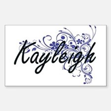 Kayleigh Artistic Name Design with Flowers Decal
