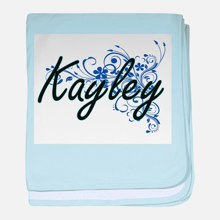 Kayley Artistic Name Design with Flow baby blanket