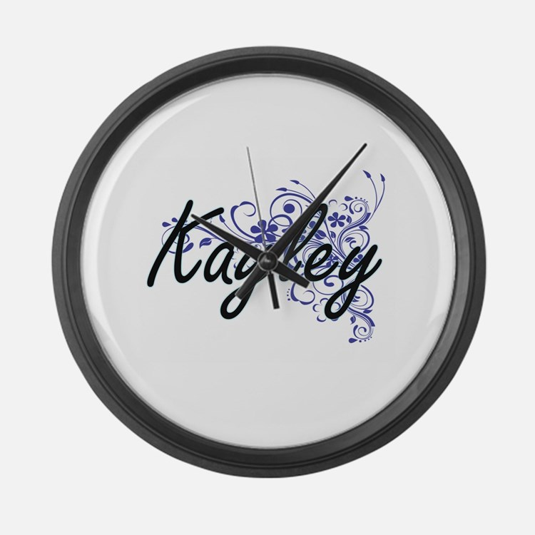 Kayley Artistic Name Design with Large Wall Clock