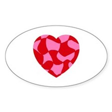 Redheart Oval Decal