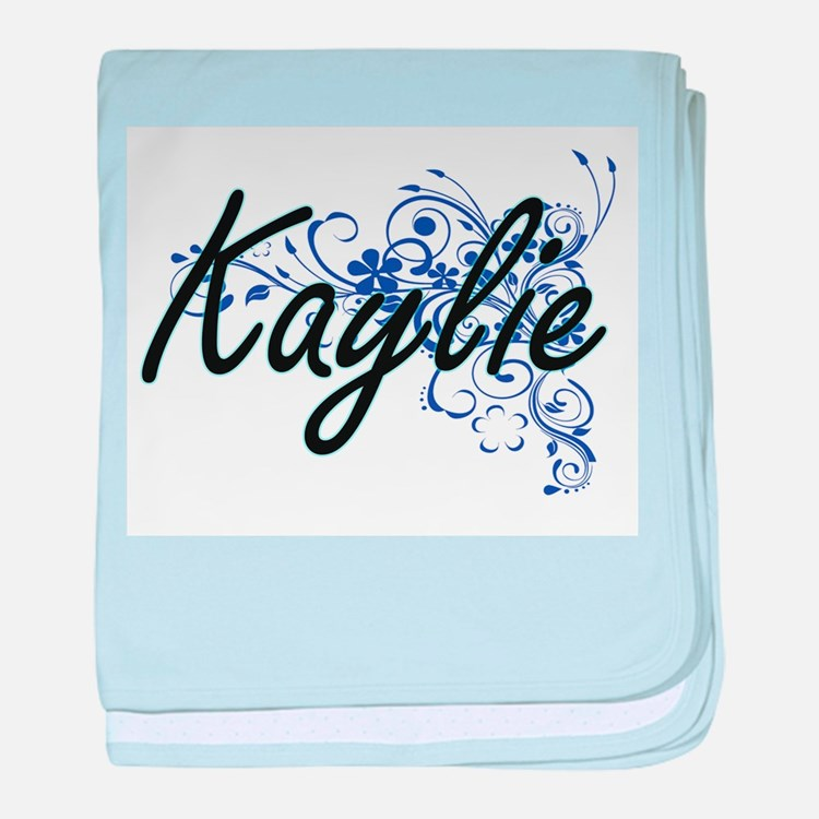 Kaylie Artistic Name Design with Flow baby blanket