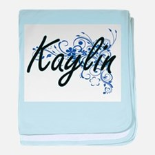 Kaylin Artistic Name Design with Flow baby blanket