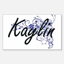 Kaylin Artistic Name Design with Flowers Decal