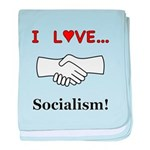 I Love Socialism baby blanket