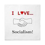 I Love Socialism Queen Duvet