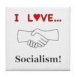 I Love Socialism Tile Coaster