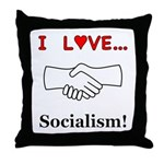 I Love Socialism Throw Pillow