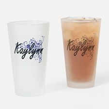Kaylynn Artistic Name Design with F Drinking Glass
