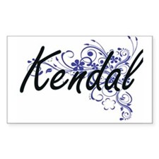 Kendal Artistic Name Design with Flowers Decal