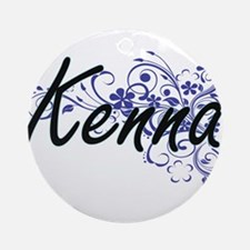 Kenna Artistic Name Design with Flo Round Ornament
