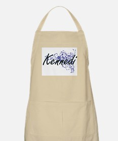 Kennedi Artistic Name Design with Flowers Apron