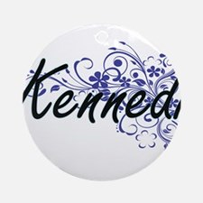 Kennedi Artistic Name Design with F Round Ornament