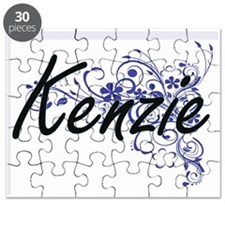 Kenzie Artistic Name Design with Flowers Puzzle
