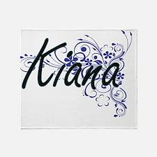 Kiana Artistic Name Design with Flow Throw Blanket