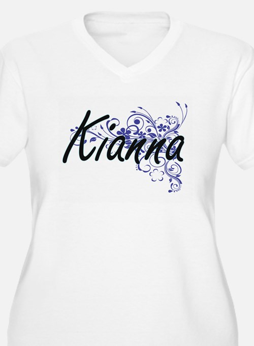Kianna Artistic Name Design with Plus Size T-Shirt