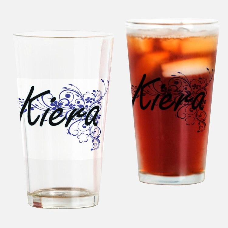 Kiera Artistic Name Design with Flo Drinking Glass