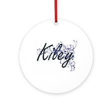 Kiley Artistic Name Design with Flo Round Ornament