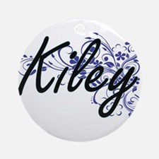 Kiley Artistic Name Design with Flo Round Ornament