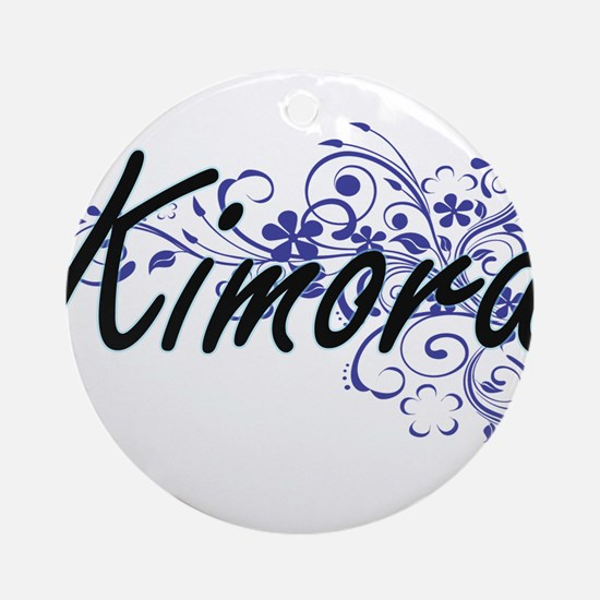 Kimora Artistic Name Design with Fl Round Ornament