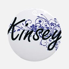 Kinsey Artistic Name Design with Fl Round Ornament