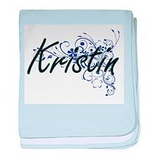 Kristin Artistic Name Design with Flo baby blanket