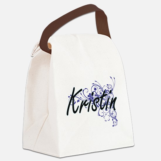 Kristin Artistic Name Design with Canvas Lunch Bag