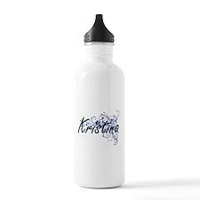 Kristina Artistic Name Sports Water Bottle