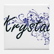 Krystal Artistic Name Design with Flo Tile Coaster