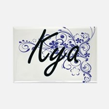 Kya Artistic Name Design with Flowers Magnets
