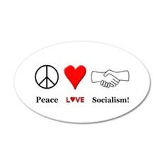 Peace Love Socialism Wall Sticker