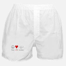 Peace Love Socialism Boxer Shorts