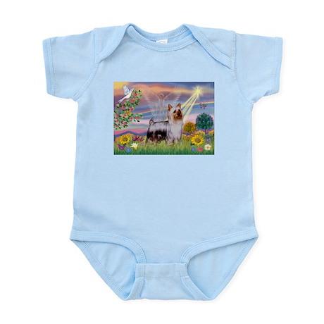 Cloud Angel & Silky Terrier Infant Bodysuit