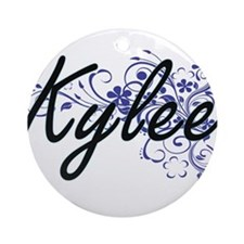 Kylee Artistic Name Design with Flo Round Ornament
