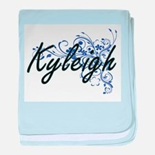 Kyleigh Artistic Name Design with Flo baby blanket
