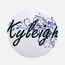Kyleigh Artistic Name Design with F Round Ornament