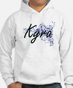 Kyra Artistic Name Design with F Hoodie