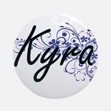 Kyra Artistic Name Design with Flow Round Ornament