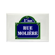 Rue Molière, Paris - France Rectangle Magnet