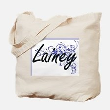 Lainey Artistic Name Design with Flowers Tote Bag