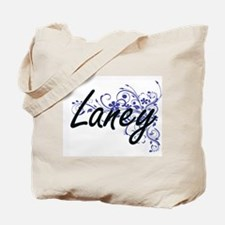 Laney Artistic Name Design with Flowers Tote Bag