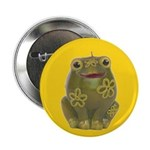 Vintage Toy Frog Art Button