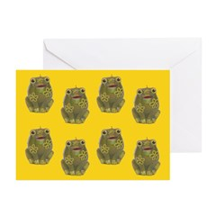 Vintage Toy Frog Art Greeting Cards (Pk of 20)