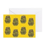 Vintage Toy Frog Art Greeting Cards (Pk of 10)