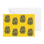 Vintage Toy Frog Art Greeting Card