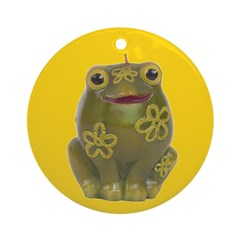 Vintage Toy Frog Art Ornament (Round)