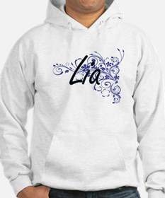 Lia Artistic Name Design with Fl Jumper Hoody