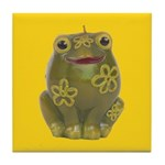 Vintage Toy Frog Art Tile Drink Coaster