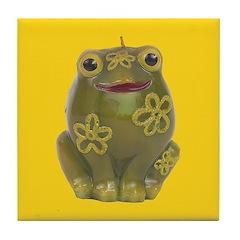 Vintage Toy Frog Art Tile Drink Coaster