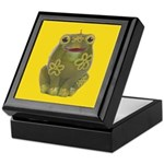 Vintage Toy Frog Art Keepsake Box