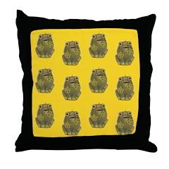 Vintage Toy Frog Art Throw Pillow